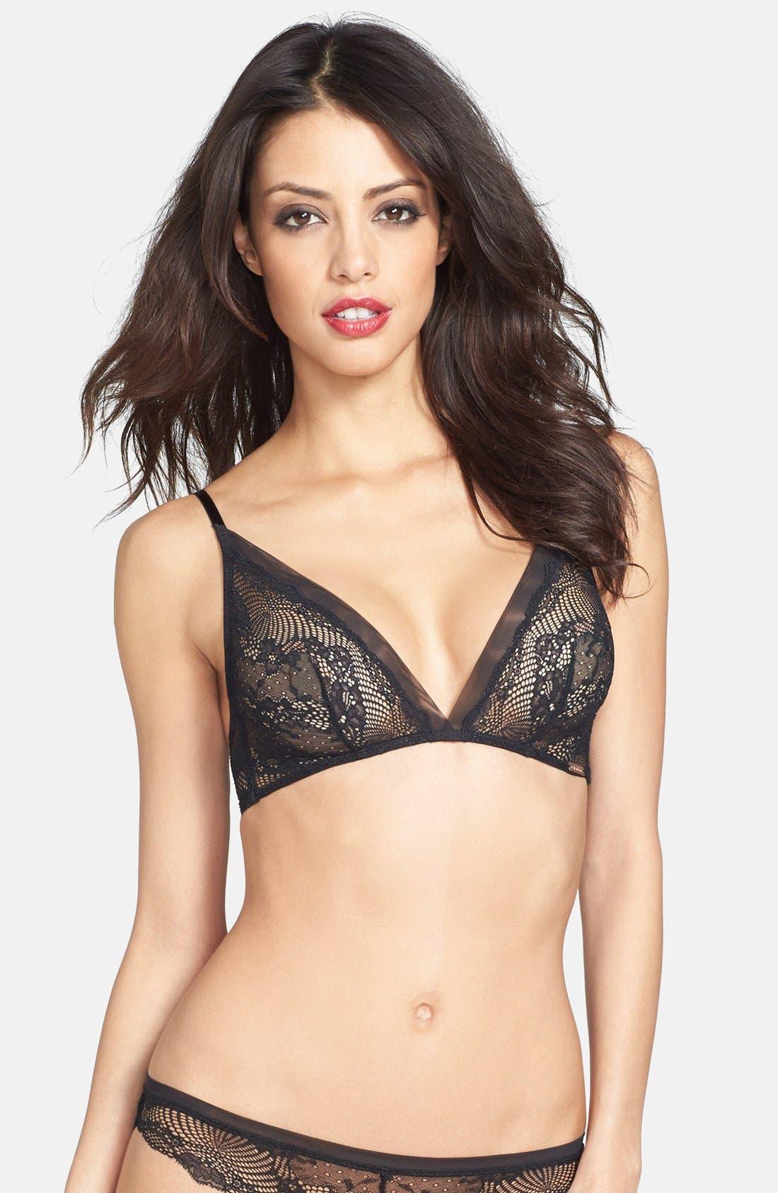 Alternate Image 1 Selected - Calvin Klein 'Serene' Lace Triangle Bra