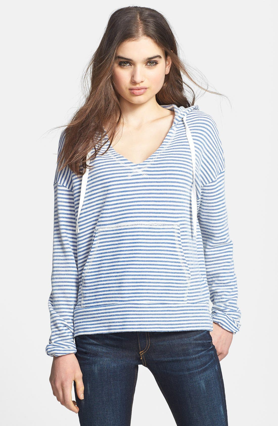 Alternate Image 1 Selected - Soft Joie 'Evita' Stripe Cotton Hoodie