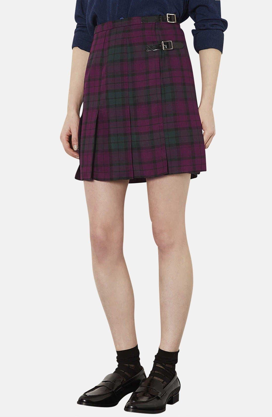 Main Image - Topshop Plaid Kilt Skirt