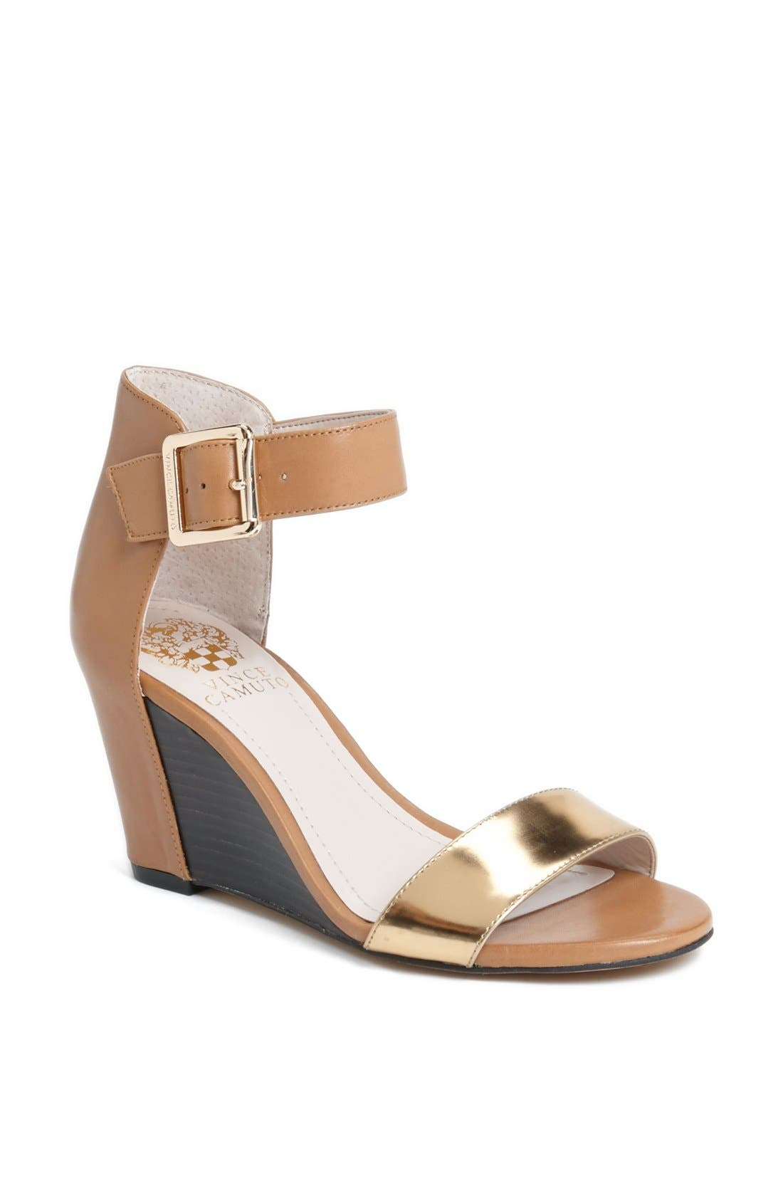 Main Image - Vince Camuto 'Luciah' Ankle Strap Wedge Sandal