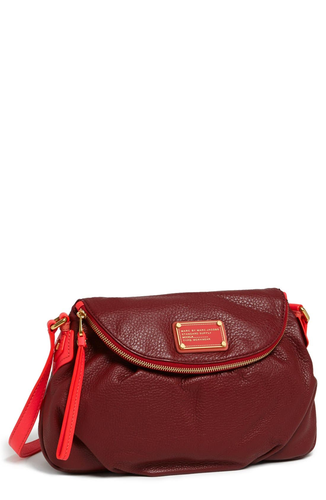 Main Image - MARC BY MARC JACOBS 'Classic Q - Natasha' Leather Crossbody Bag