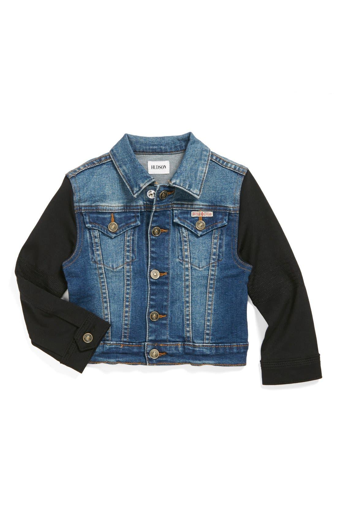 Main Image - Hudson Kids Denim Jacket (Toddler Girls)