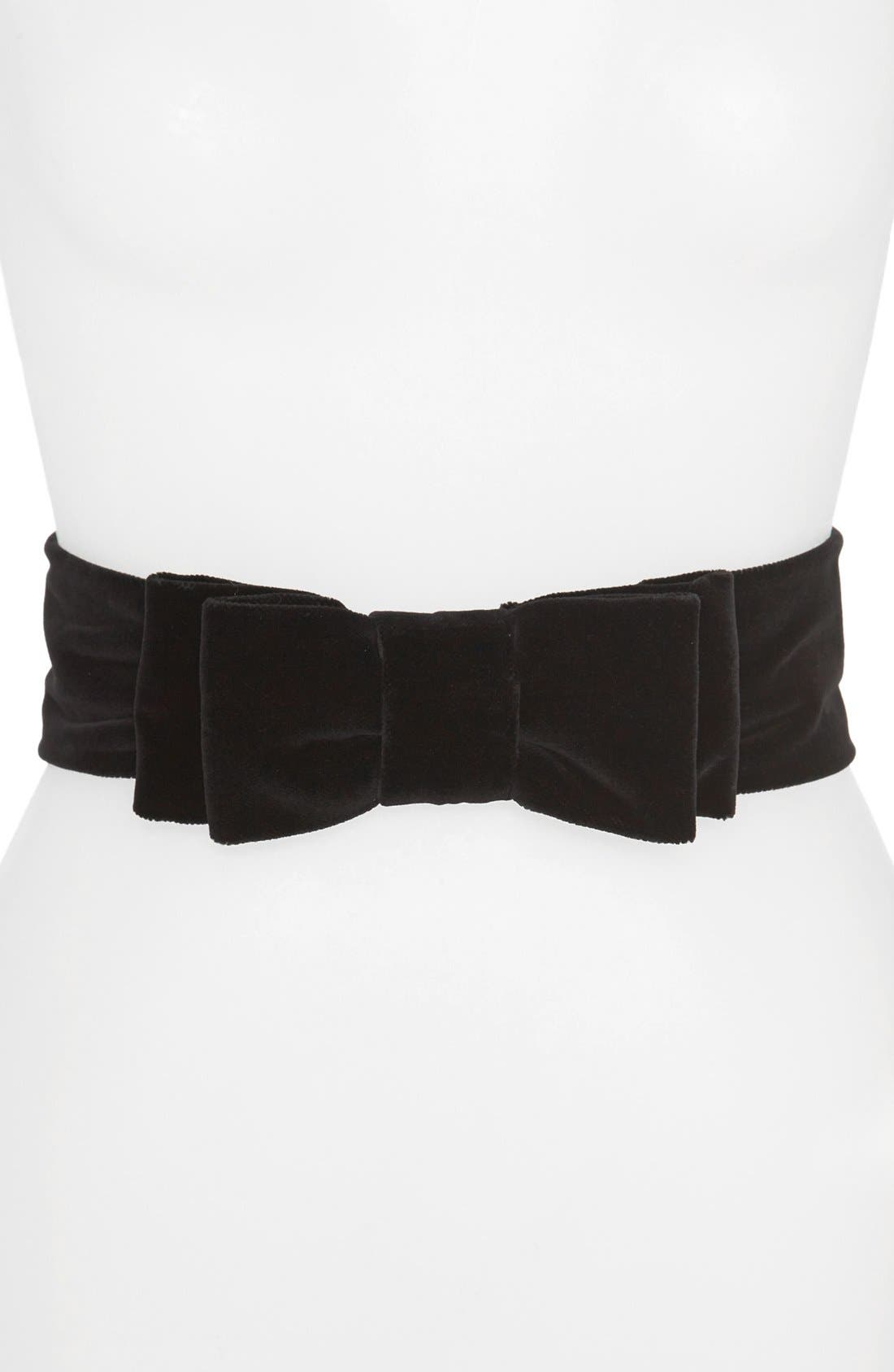 Alternate Image 1 Selected - kate spade new york 'velvet double bow' belt