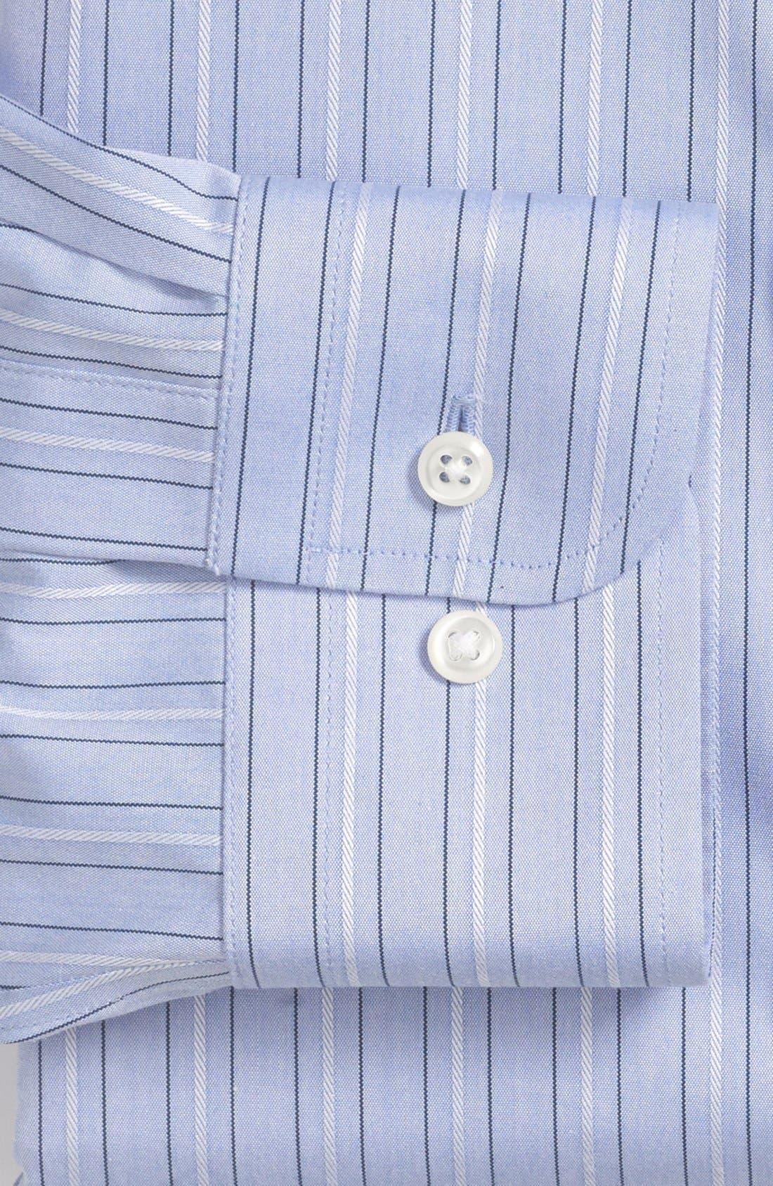 Alternate Image 2  - Nordstrom Smartcare™ Trim Fit Stripe Non-Iron Dress Shirt