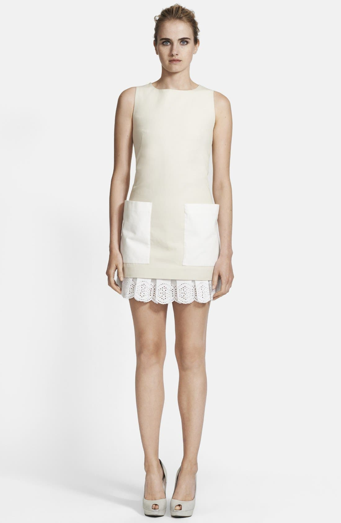 Alternate Image 1 Selected - Alexander McQueen Contrast Pocket Canvas Tunic