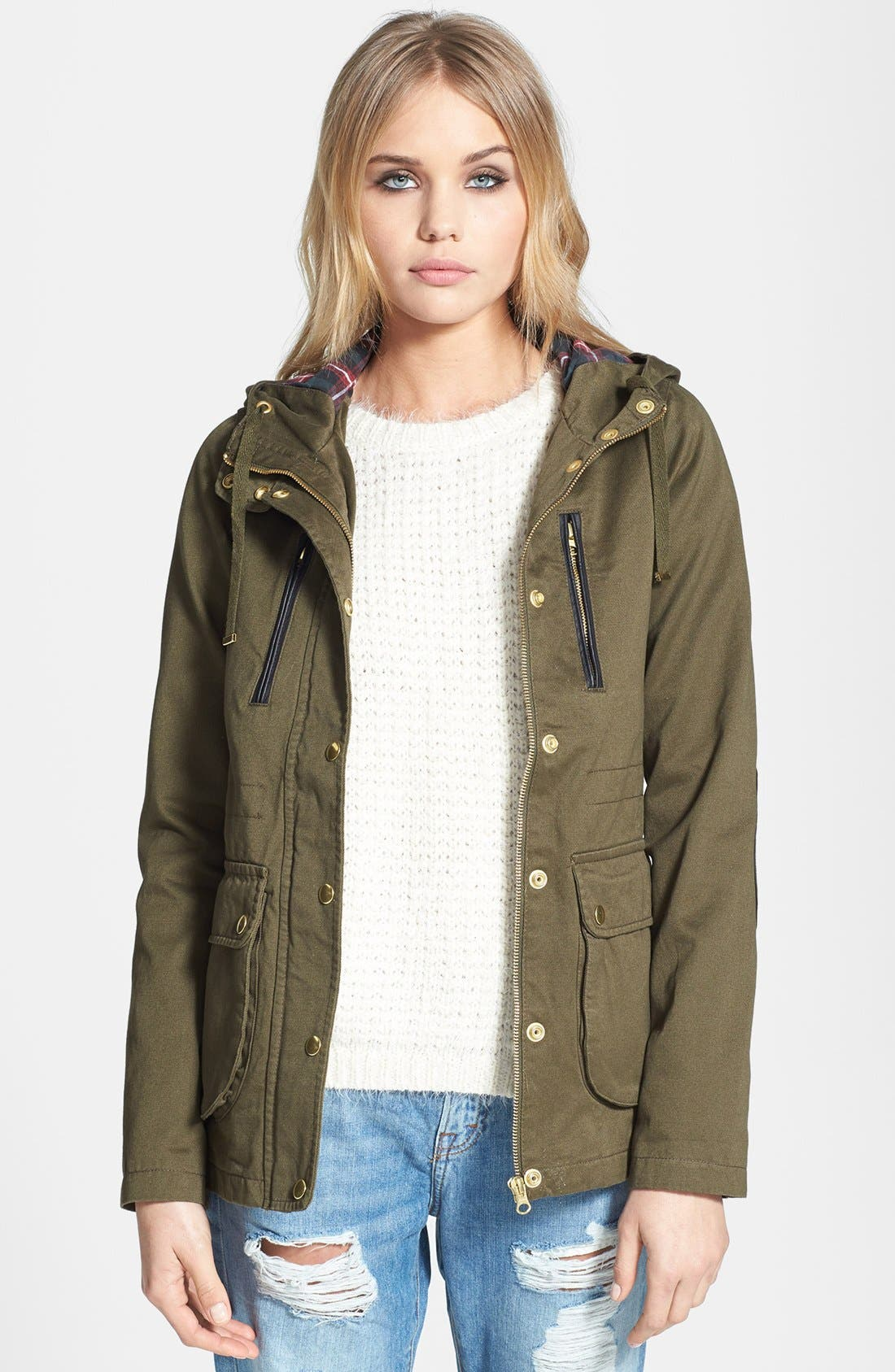 Alternate Image 1 Selected - Topshop 'Duke' Hooded Jacket