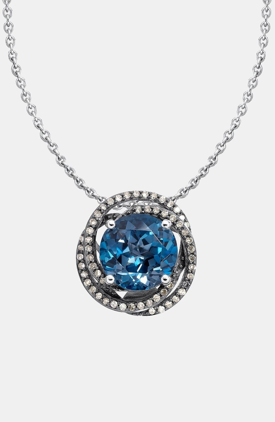 Alternate Image 1 Selected - Whitney Stern Topaz & Diamond Necklace