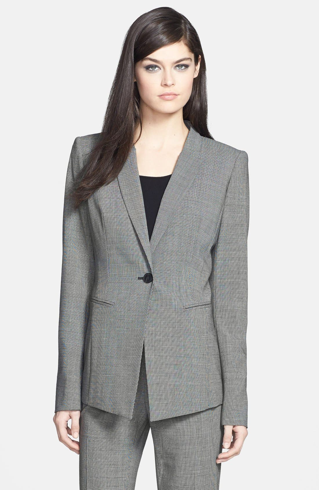 Main Image - Lafayette 148 New York 'Kiotta' Stretch Wool Jacket