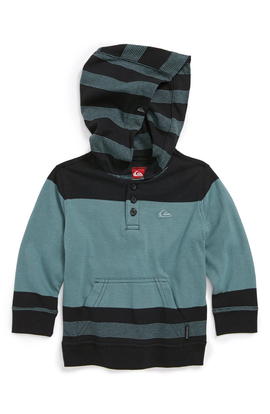 Alternate Image 1 Selected - Quiksilver 'Sand Dollar' Henley Hooded Sweater (Baby Boys)