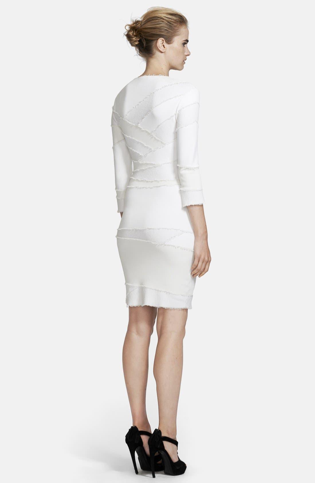 Alternate Image 2  - Alexander McQueen Frayed Patchwork Dress