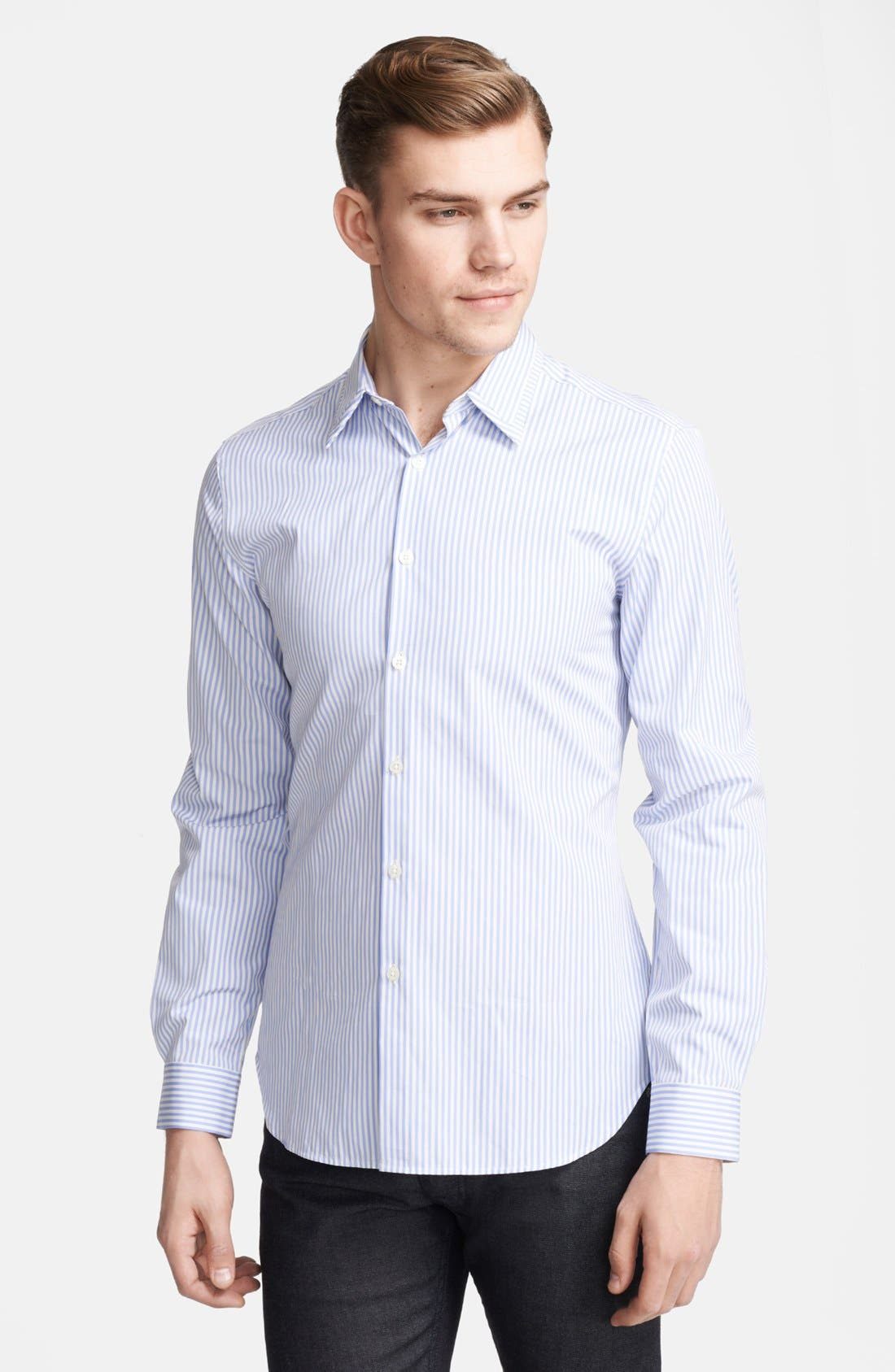 Alternate Image 1 Selected - PS Paul Smith Slim Fit Stripe Sport Shirt