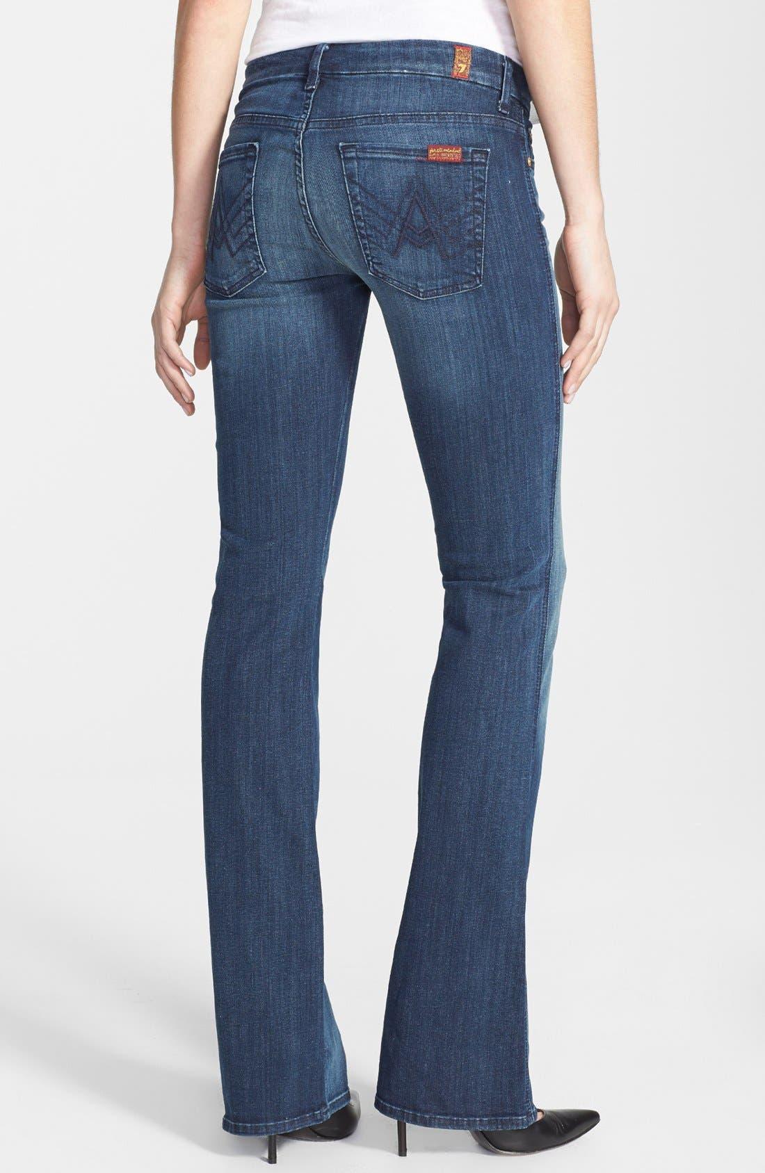 Alternate Image 2  - 7 For All Mankind® 'A-Pocket' Bootcut Jeans (Dark Destroy)