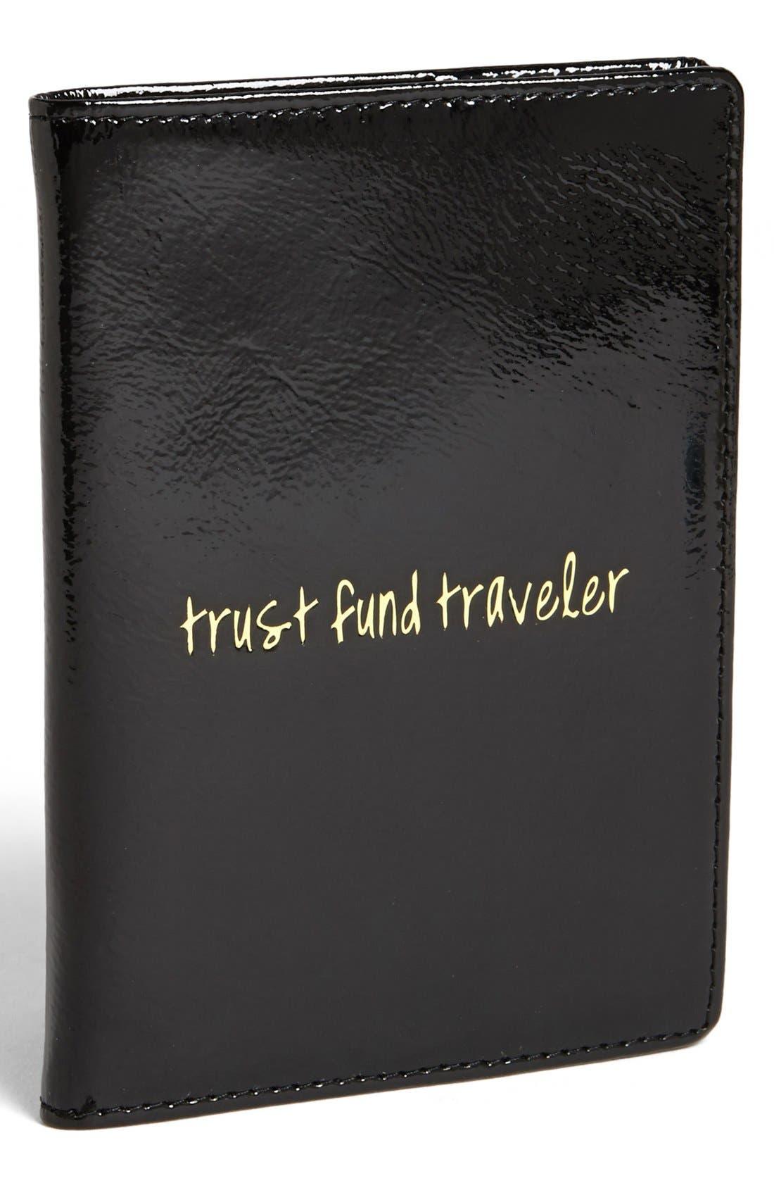 Alternate Image 1 Selected - Halogen® 'Trust Fund Traveler' Patent Leather Passport Cover