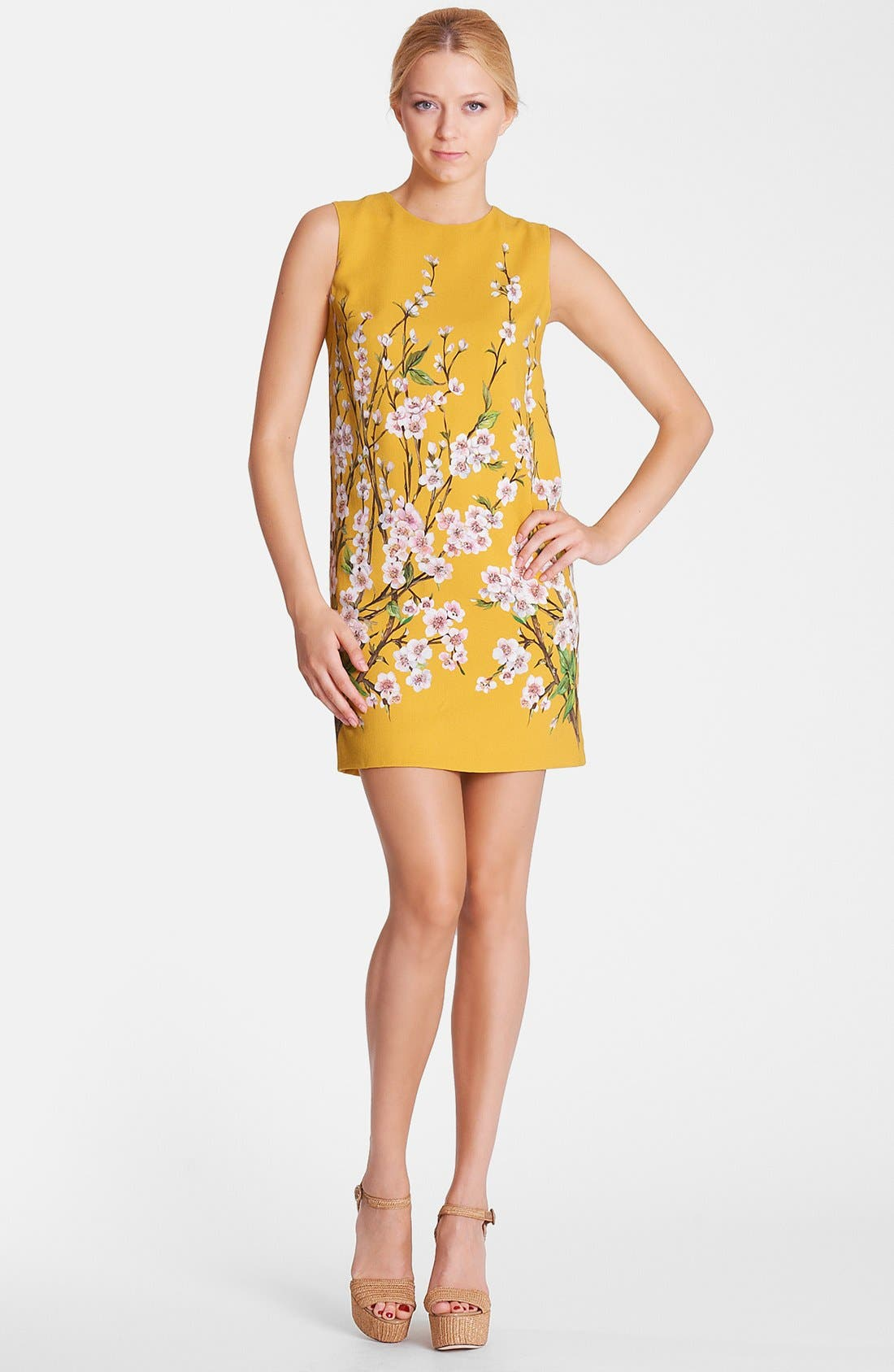 Alternate Image 1 Selected - Dolce&Gabbana Floral Print Shift Dress