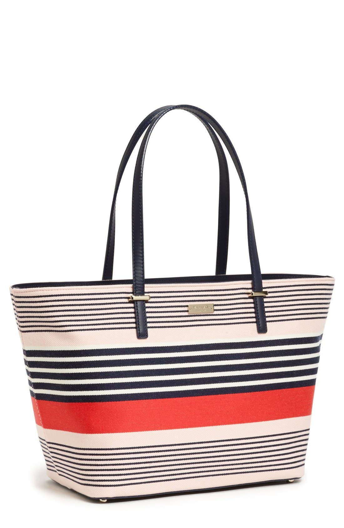 Main Image - kate spade new york 'harmony cedar street stripe - small' print tote