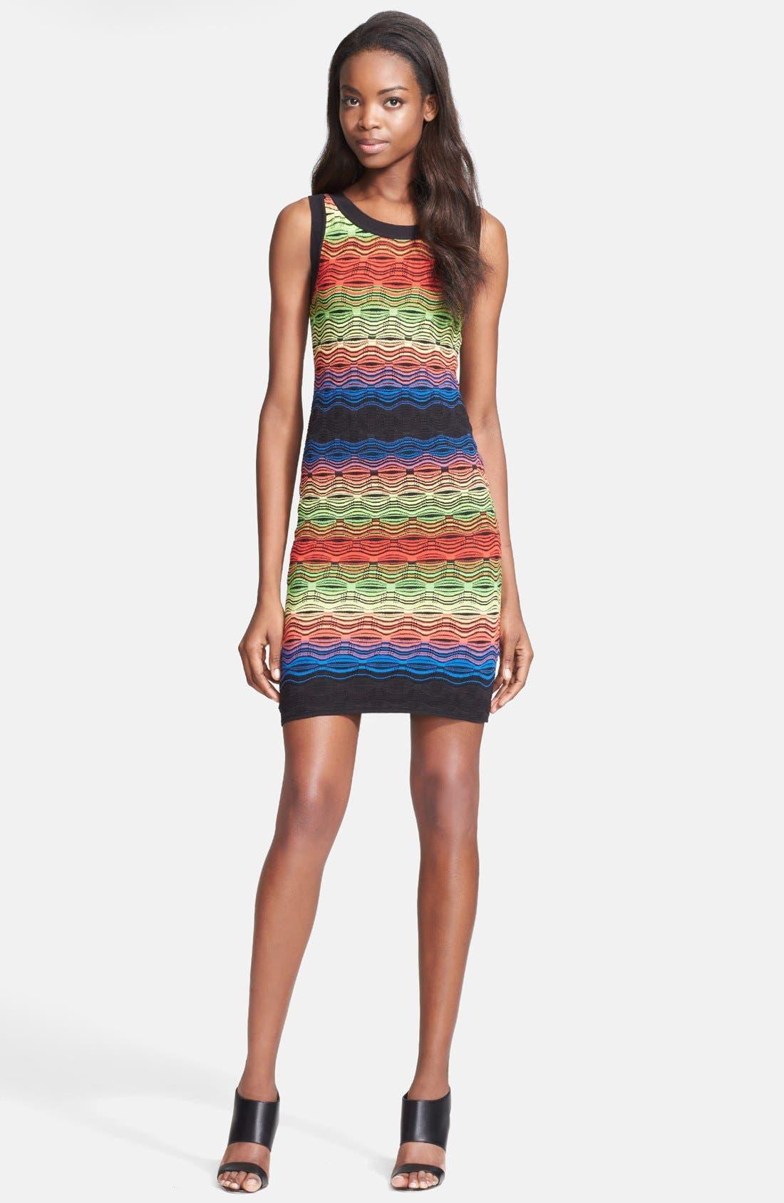 Alternate Image 1 Selected - M Missoni Ripple Stitch Cotton Blend Knit Dress