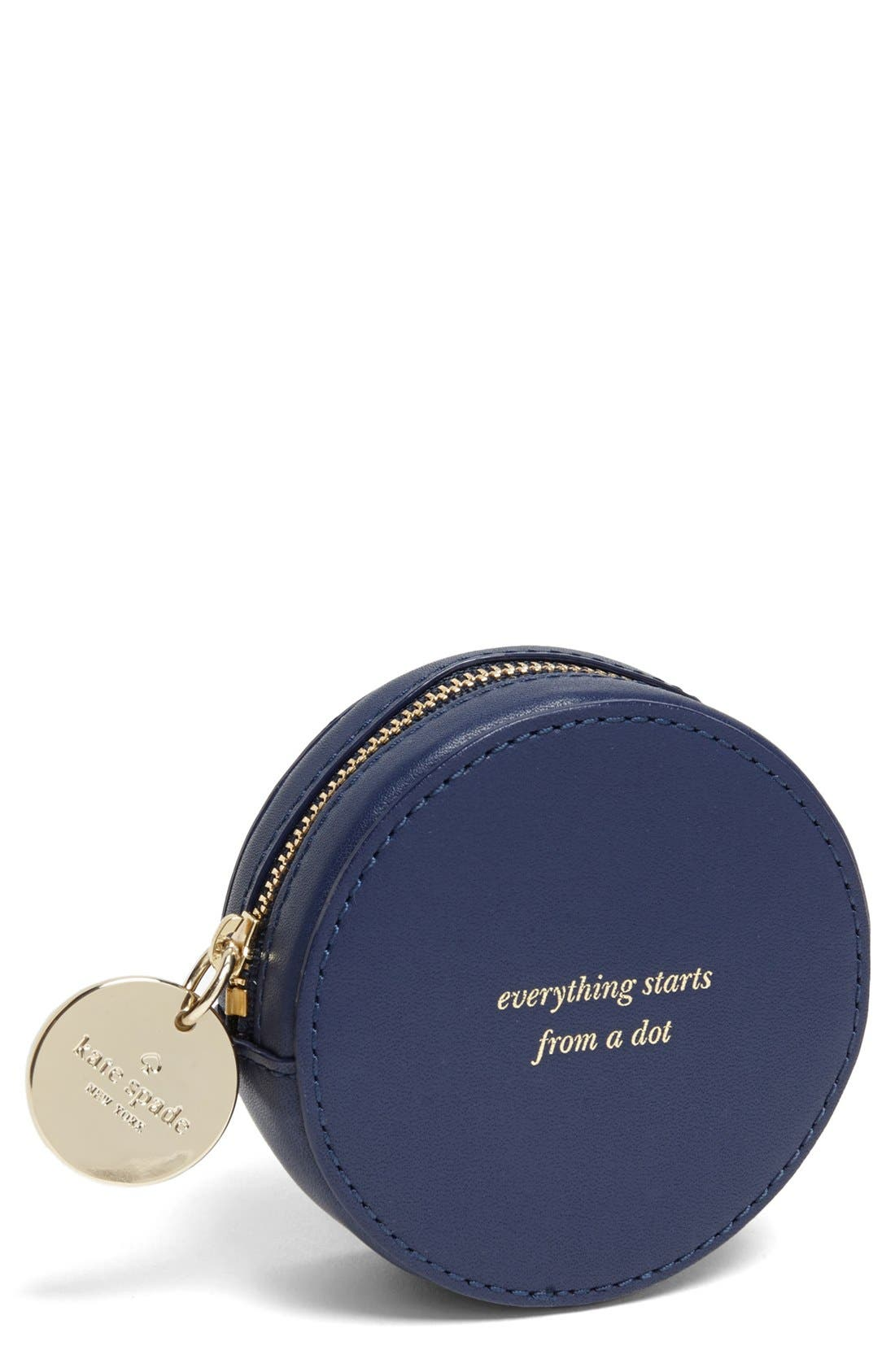 Alternate Image 1 Selected - kate spade new york 'dot' leather coin purse