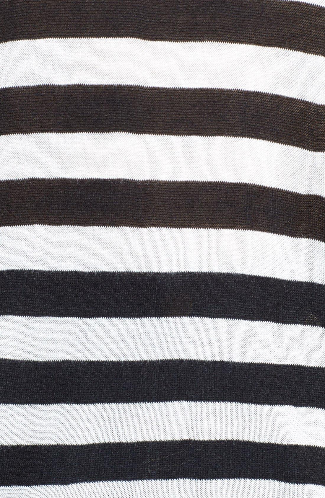 Alternate Image 3  - eric + lani Stripe Front Sweater