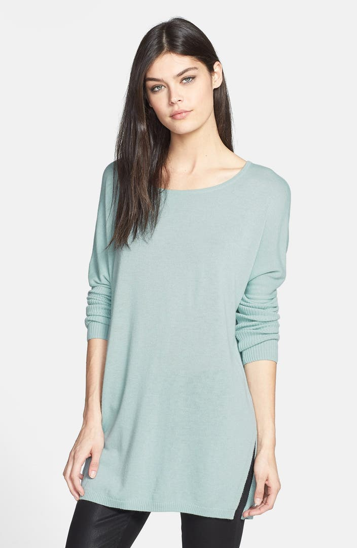 Trouv 233 Side Slit Tunic Sweater Nordstrom