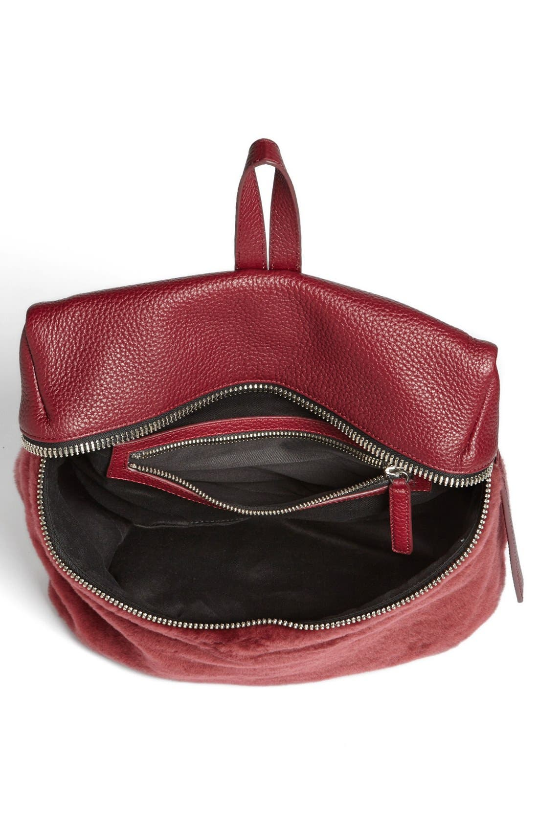 Alternate Image 3  - Kara Genuine Shearling Backpack, Medium