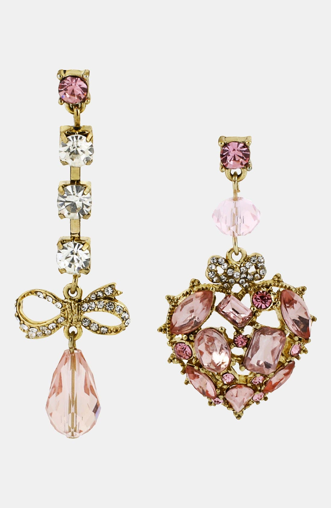 Alternate Image 1 Selected - Betsey Johnson 'Vintage Bow' Drop Earrings