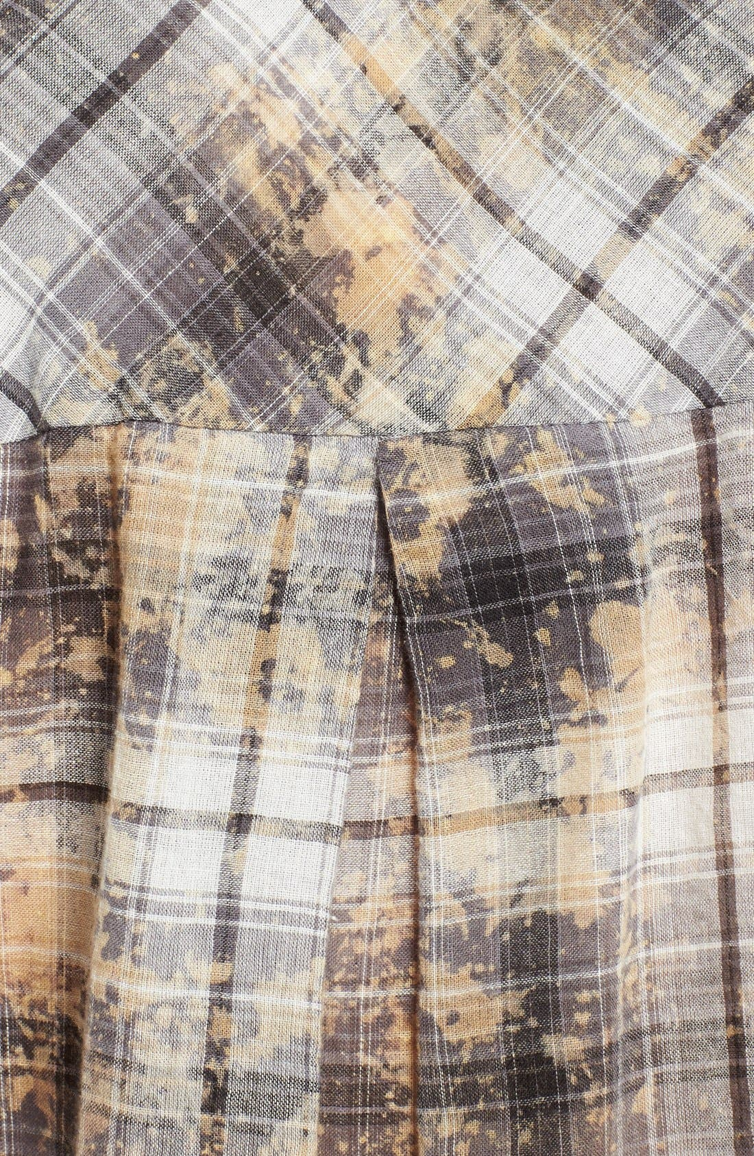 Alternate Image 3  - Enza Costa Plaid High/Low Cotton Shirt