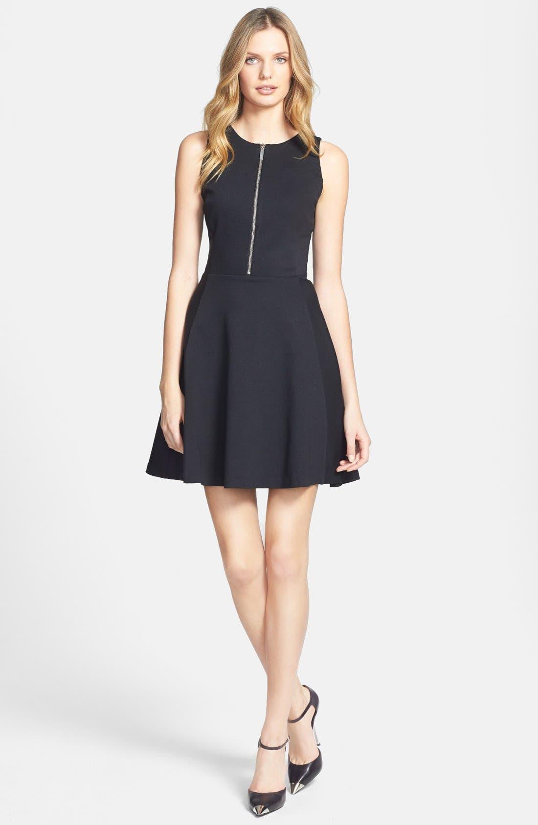 Alternate Image 1 Selected - MICHAEL Michael Kors Zip Front Fit & Flare Dress