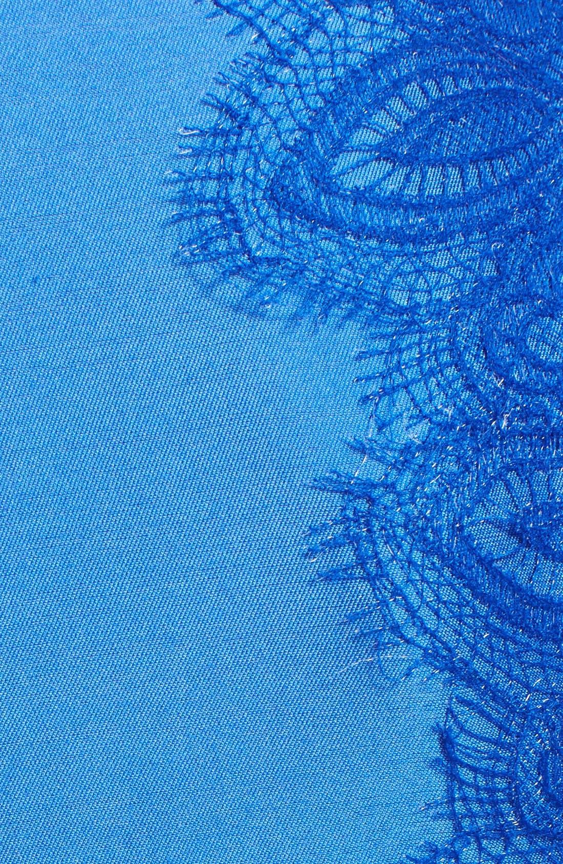 Alternate Image 3  - Lela Rose Lace Panel Sheath Dress