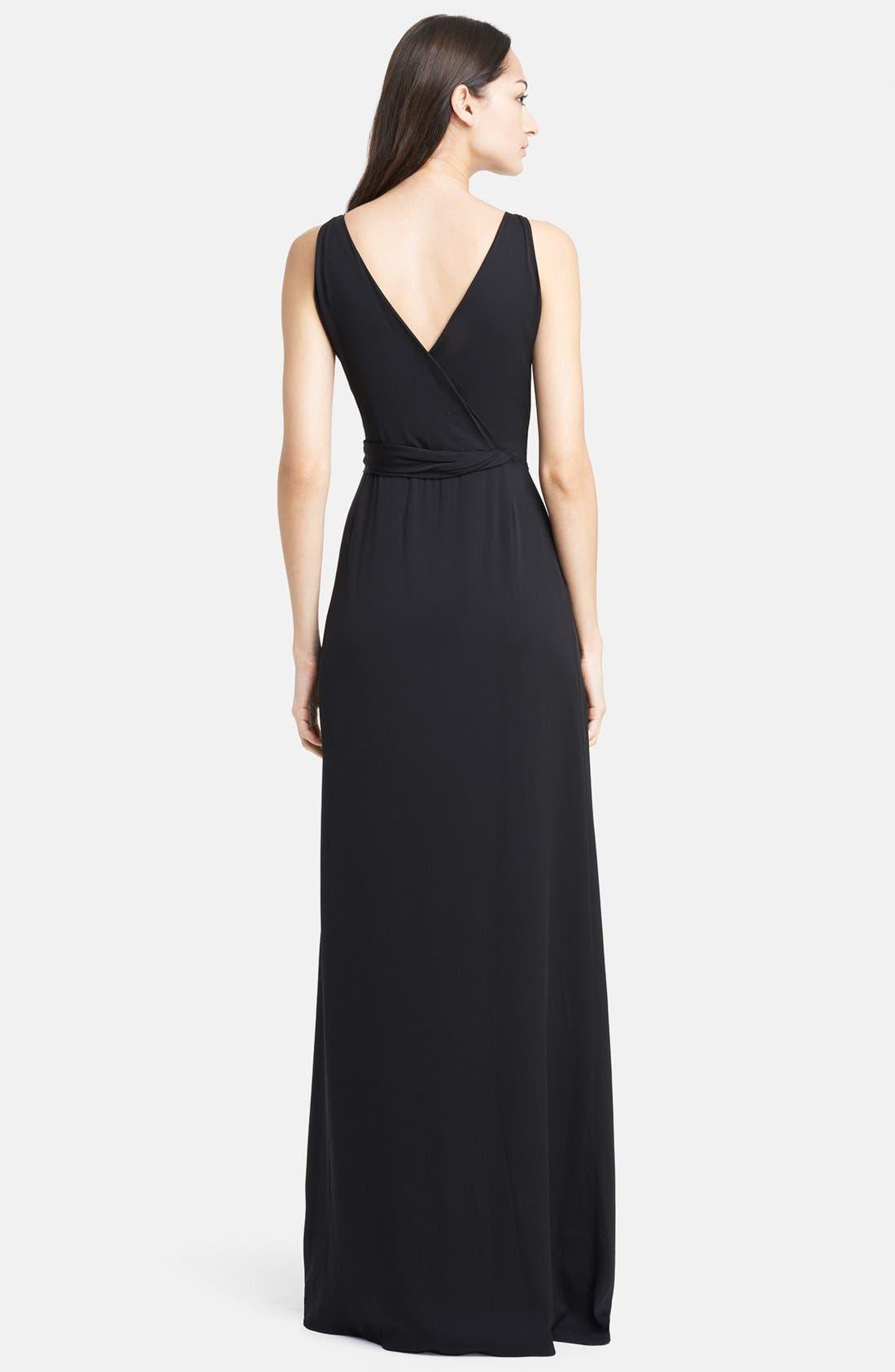 Alternate Image 2  - Armani Collezioni Side Drape Cady Gown