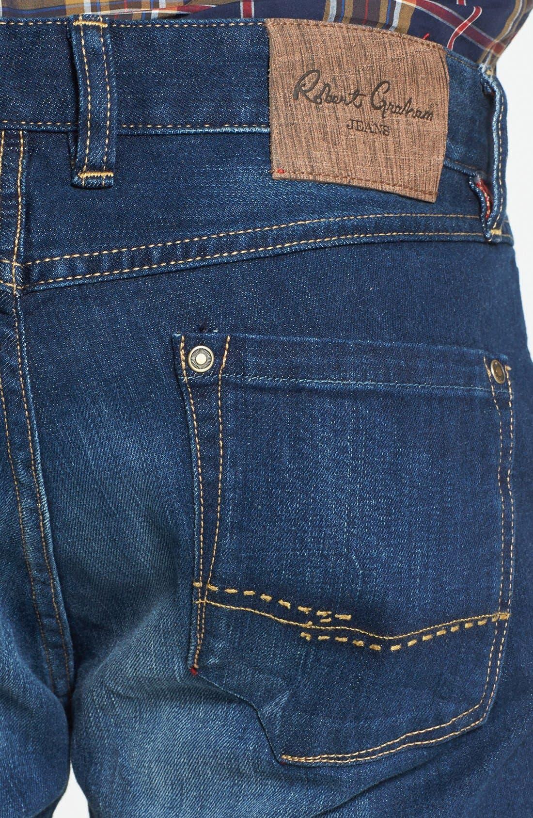 Alternate Image 4  - Robert Graham 'Upside Down' Slim Fit Straight Leg Jeans