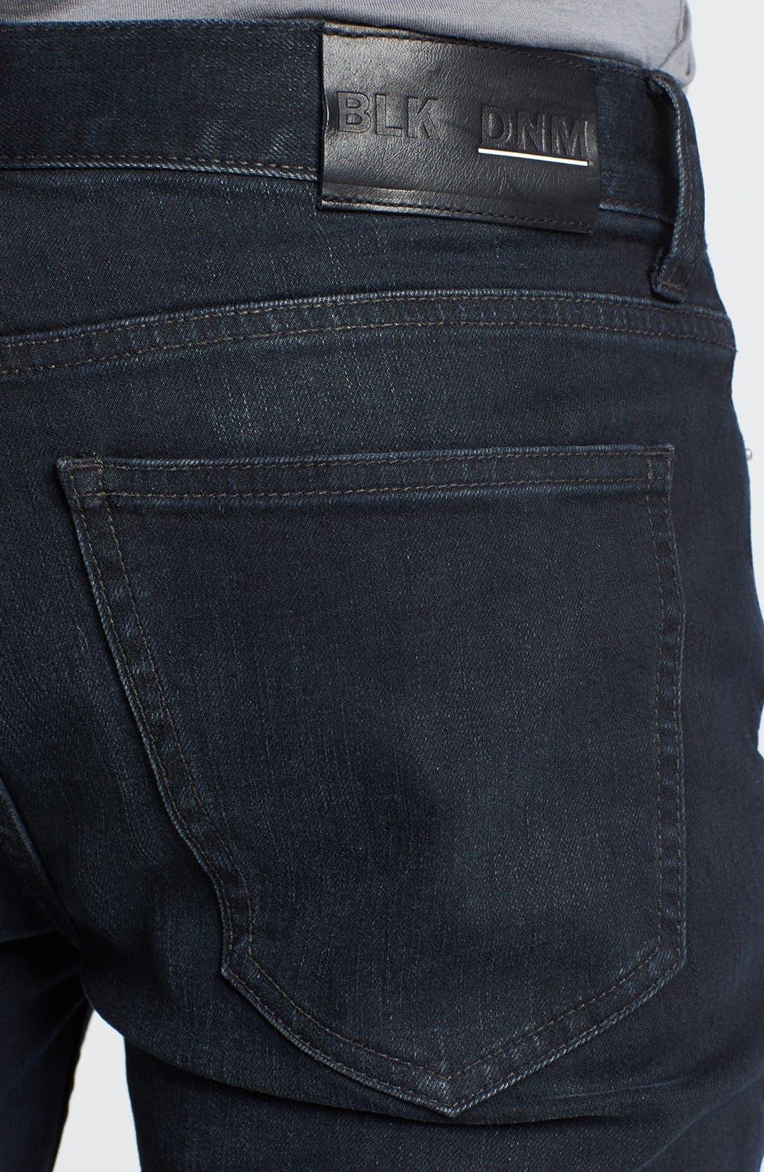 Alternate Image 4  - BLK DNM 'Jeans 5' Slim Straight Leg Jeans (Beekman Black)