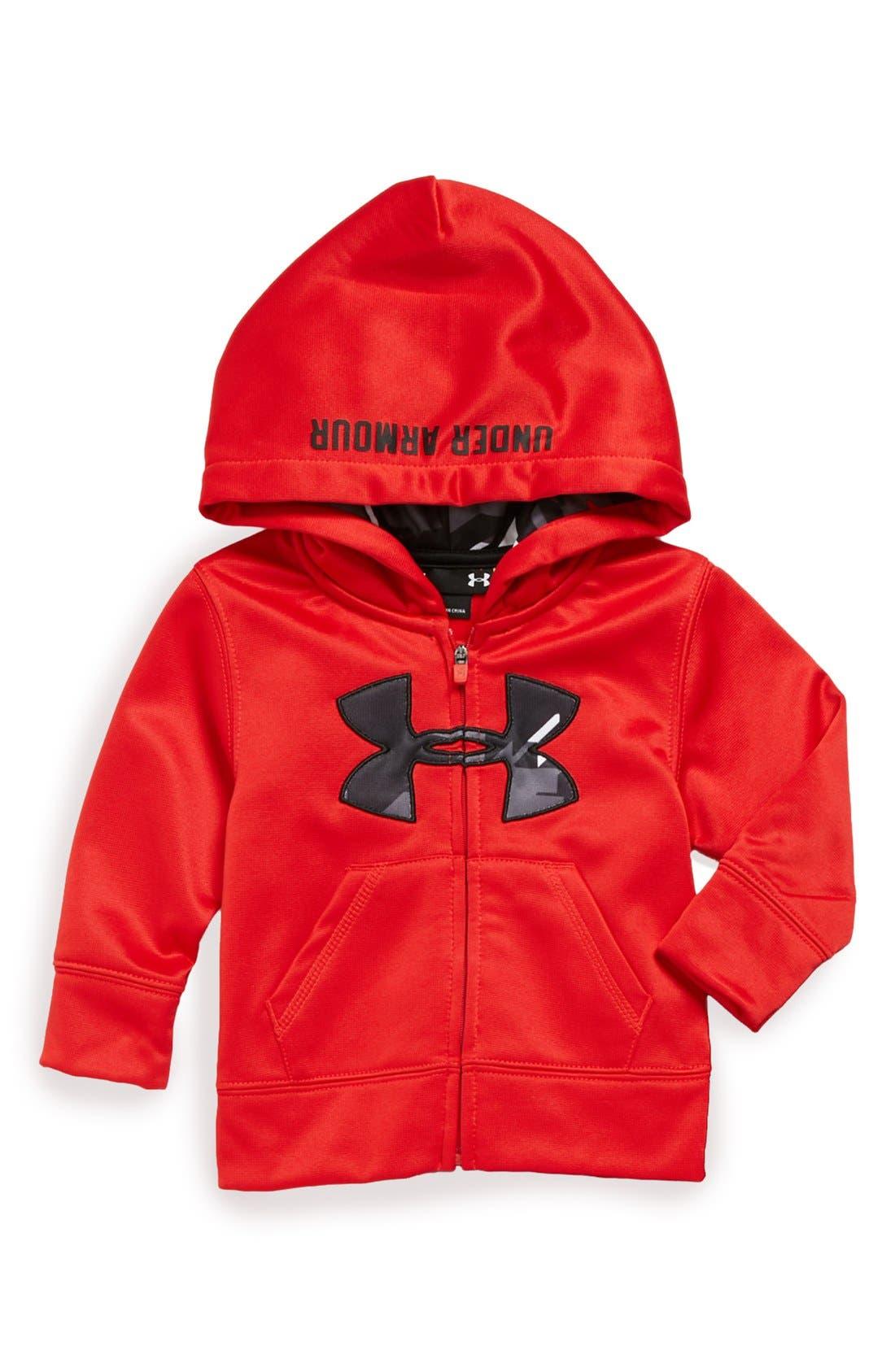 Main Image - Under Armour 'Edge' Camo Logo Hoodie (Toddler Boys)