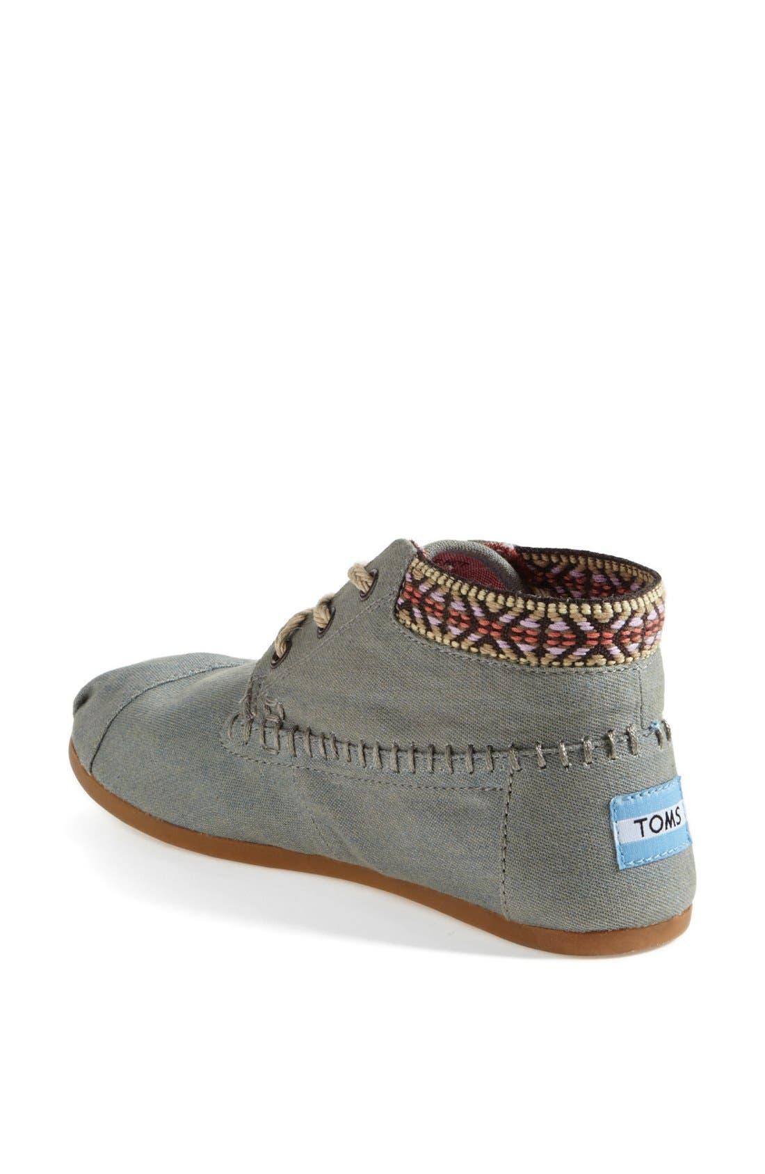 Alternate Image 2  - TOMS 'Desert' Burlap & Cotton Boot (Women)