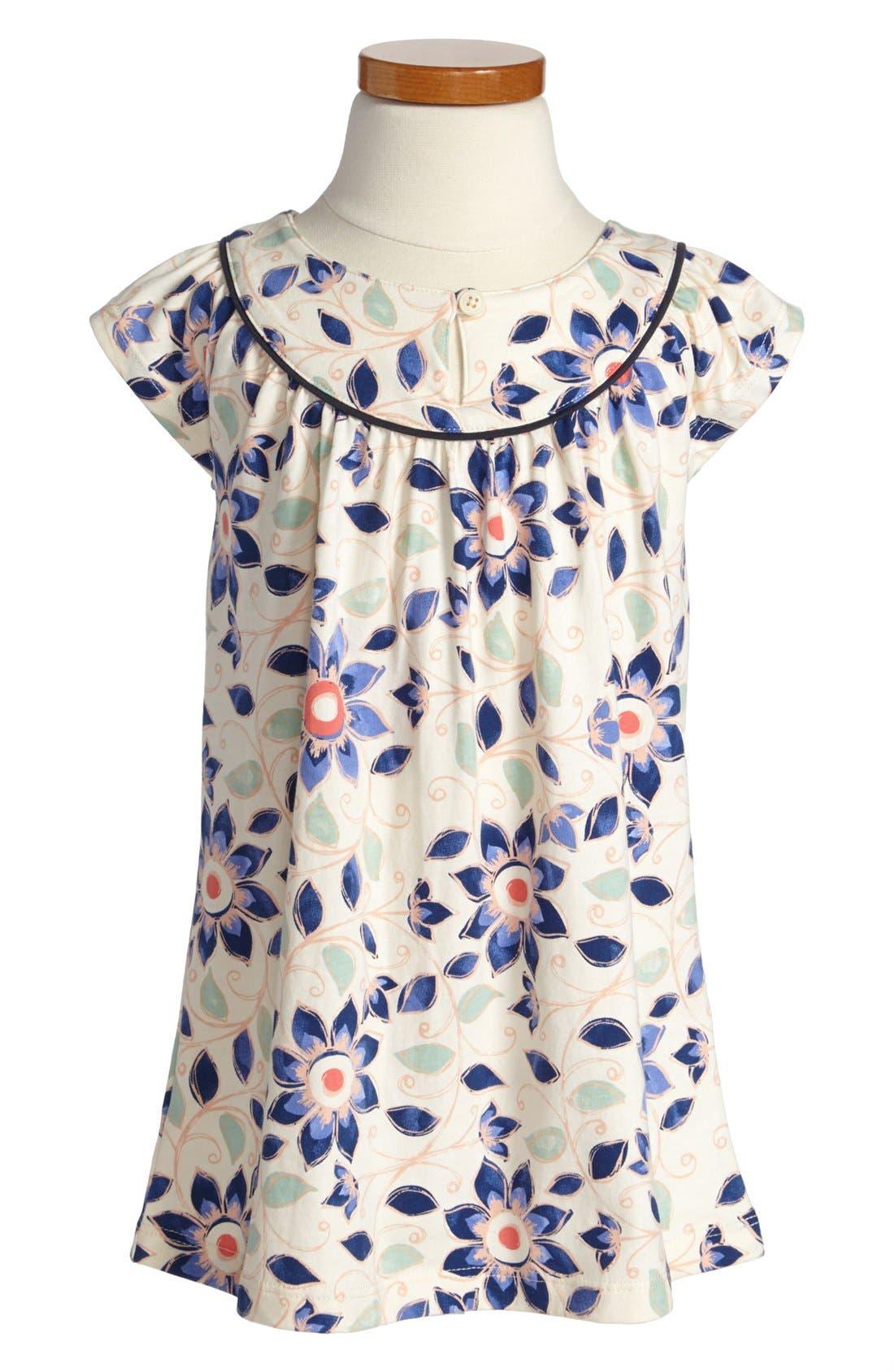 Main Image - Tea Collection 'Art Naji' Flutter Sleeve Dress (Toddler Girls)