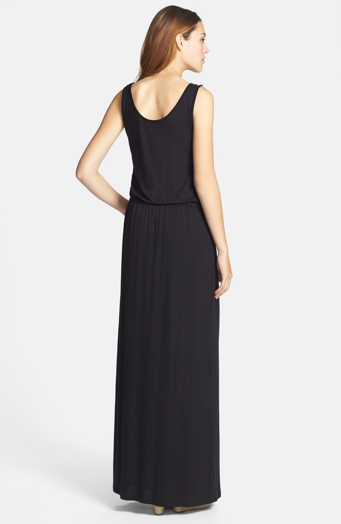 Alternate Image 2  - Caslon® Drawstring Waist Maxi Dress (Regular & Petite)