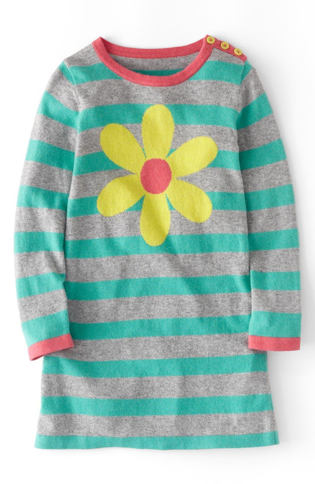 Main Image - Mini Boden Stripy Knit Dress (Toddler Girls, Little Girls & Big Girls)