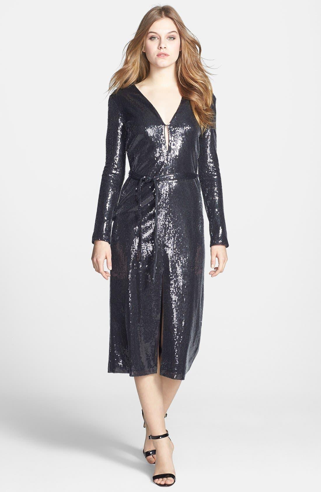 Main Image - Halston Heritage Sequin Dress