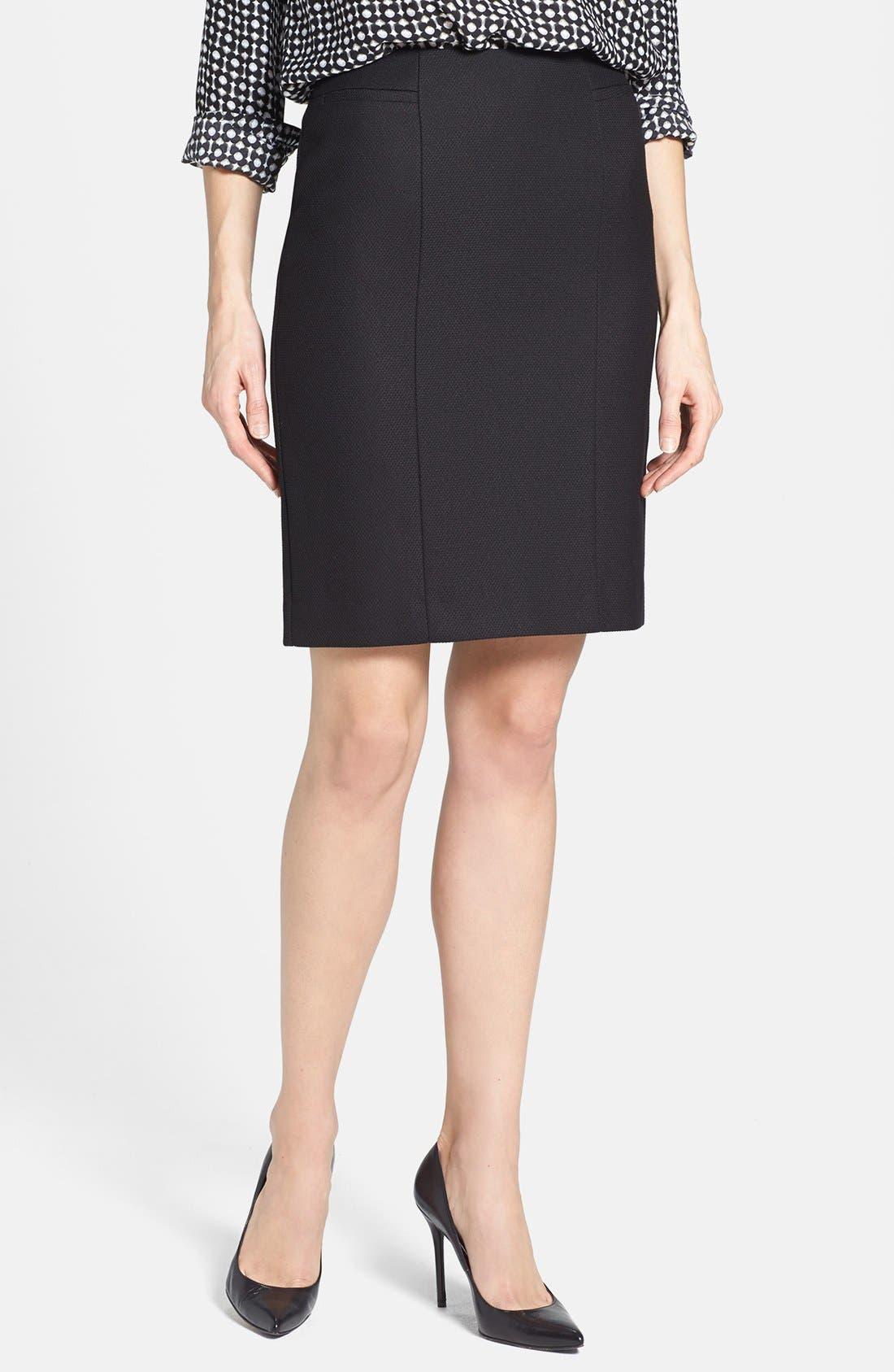Alternate Image 1 Selected - Halogen® Diamond Stretch Suit Skirt (Petite)