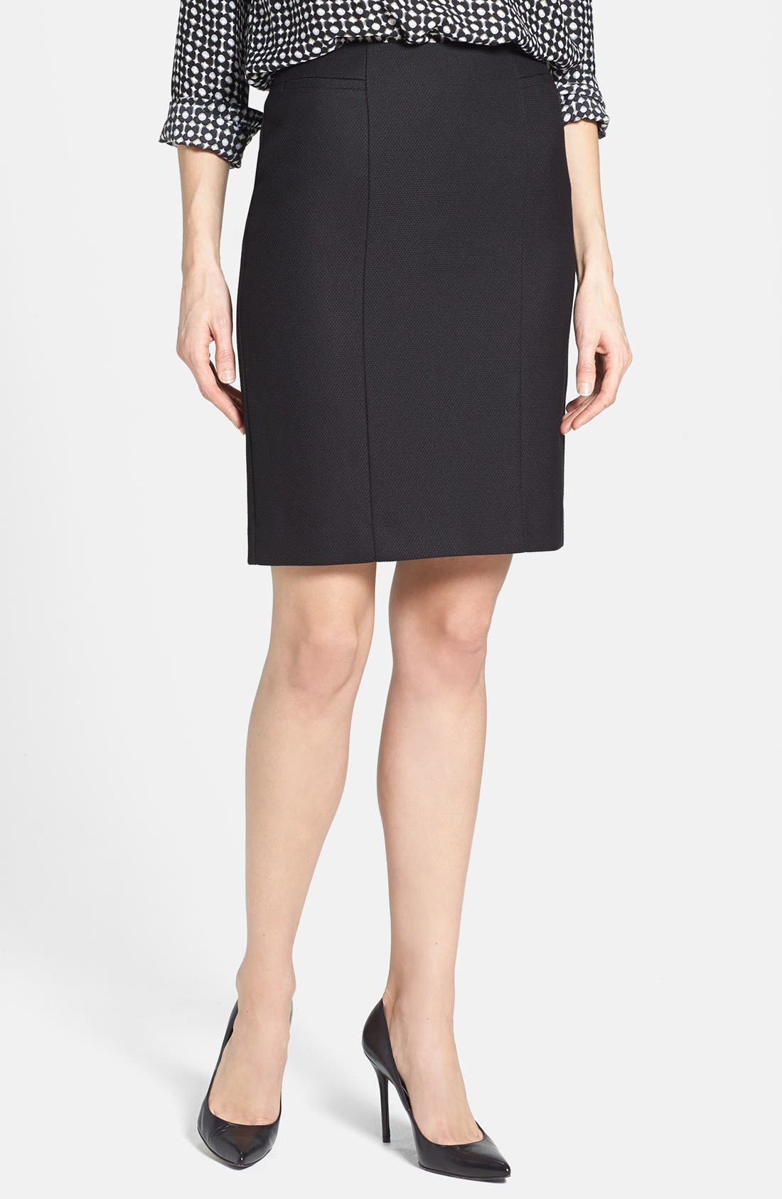 Main Image - Halogen® Diamond Stretch Suit Skirt (Petite)