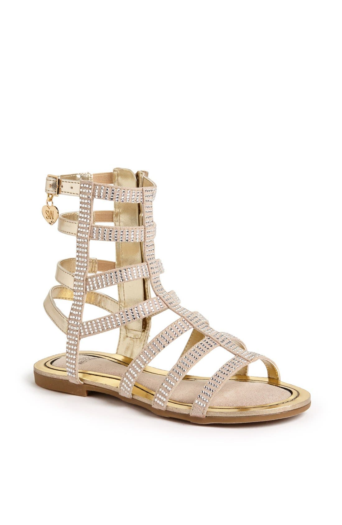 Alternate Image 1 Selected - Stuart Weitzman 'Camia' Gladiator Sandal (Little Kid & Big Kid)
