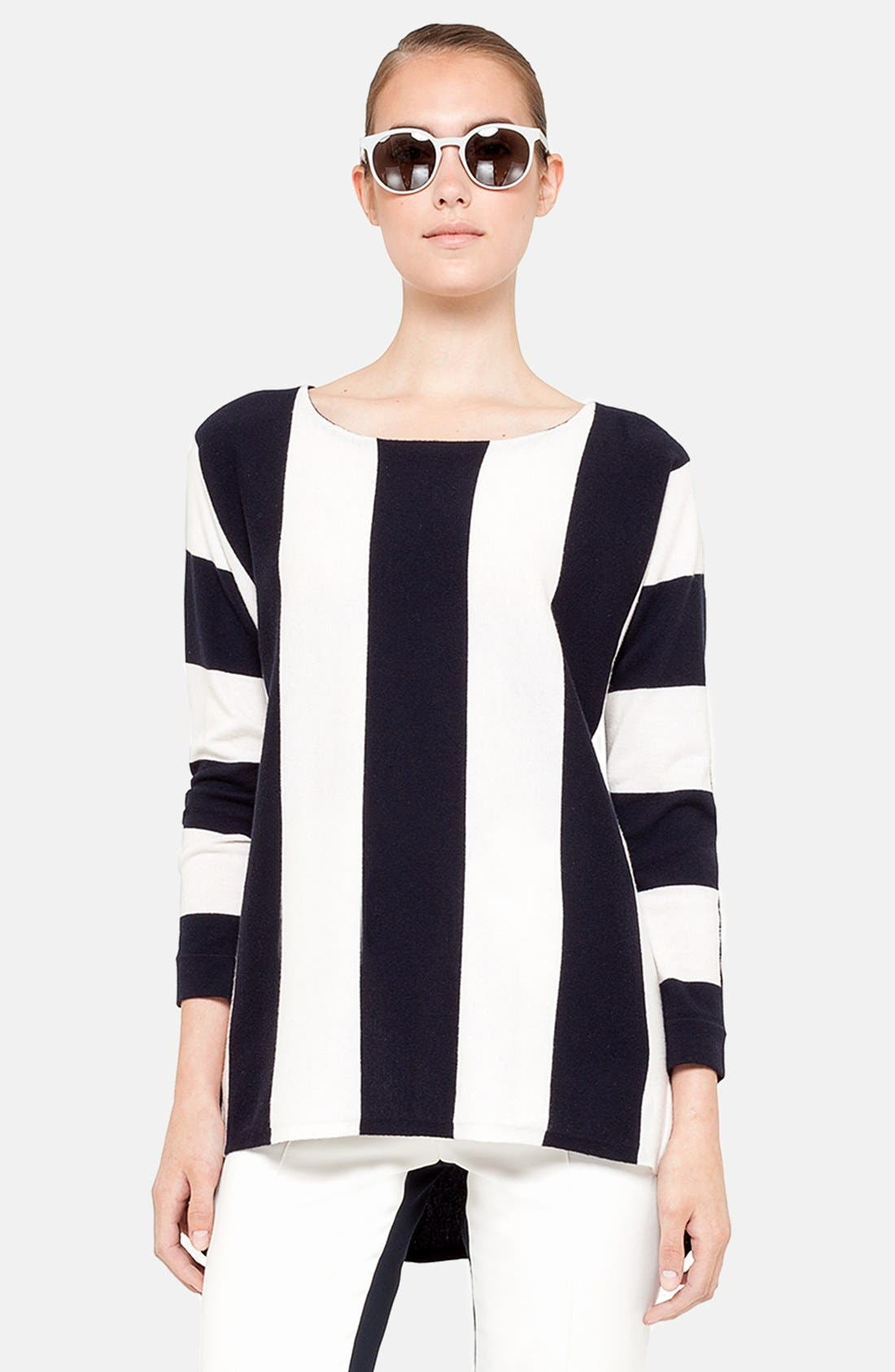Main Image - Akris punto Stripe Knit Tunic Sweater