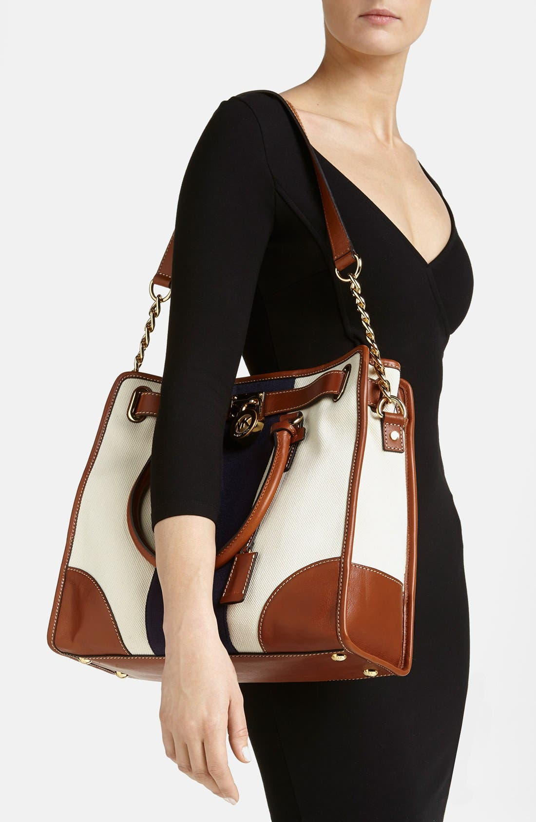 Alternate Image 2  - MICHAEL Michael Kors 'Large Hamilton' Canvas Tote
