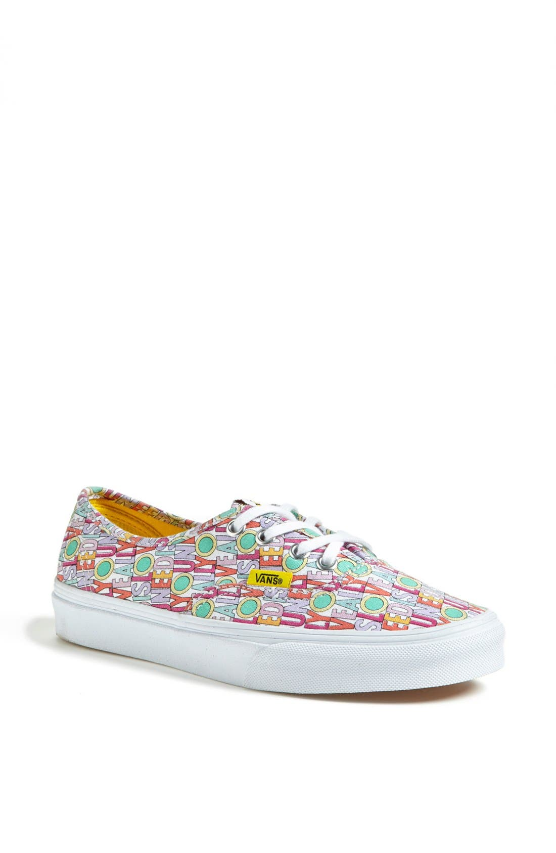 Alternate Image 1 Selected - Vans 'Authentic - All You Need Is Love' Sneaker