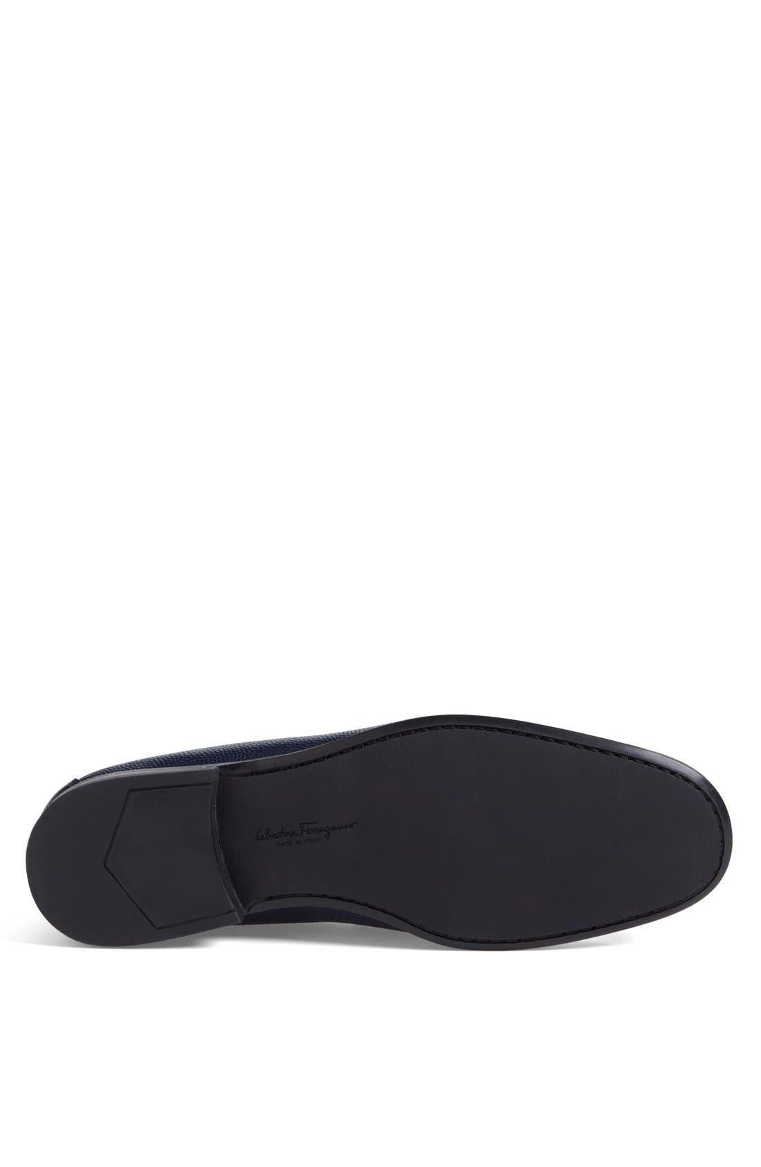 Alternate Image 4  - Salvatore Ferragamo 'Regal' Pebbled Leather Loafer