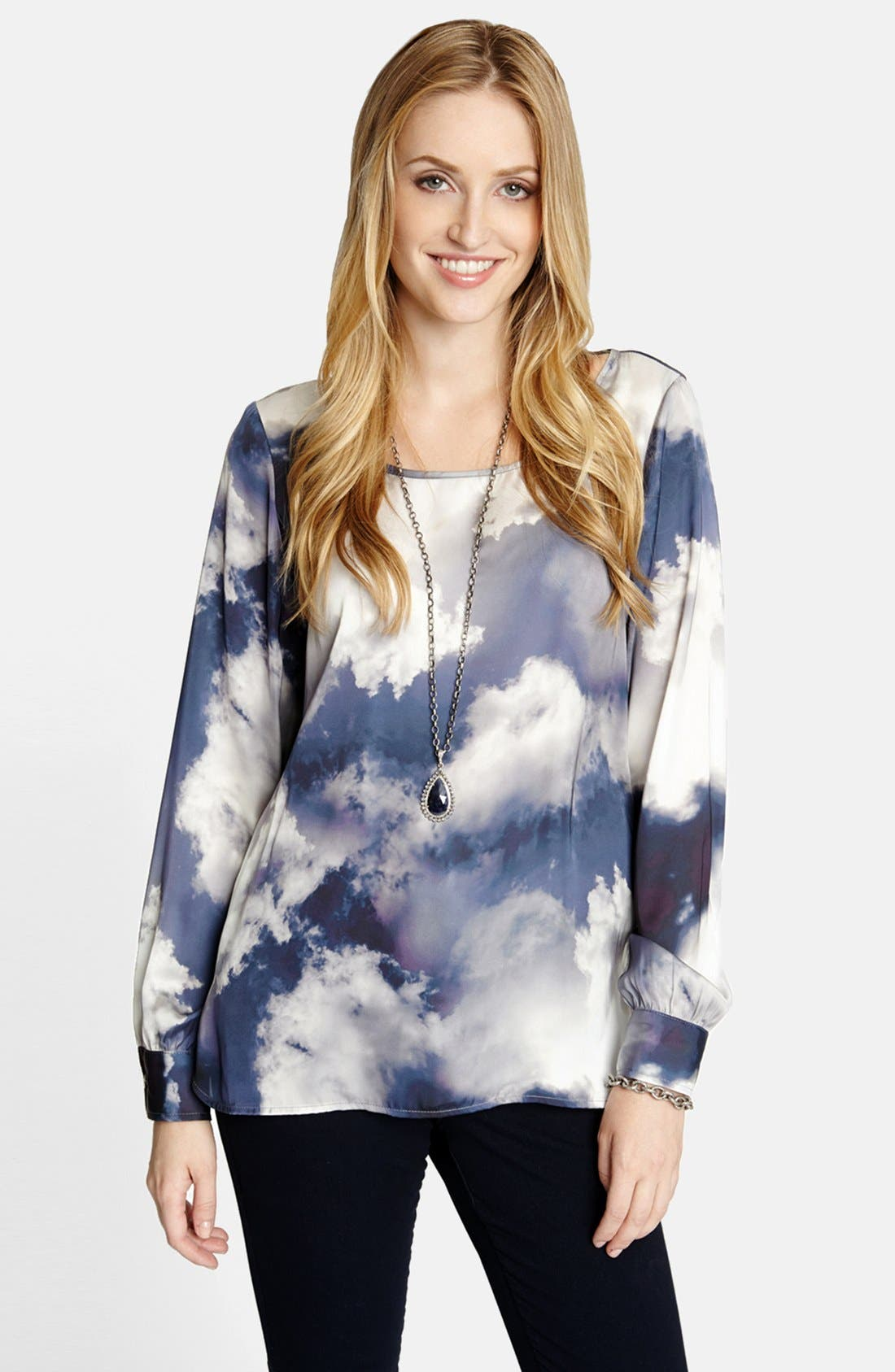 Alternate Image 1 Selected - Karen Kane Cloud Print Blouse