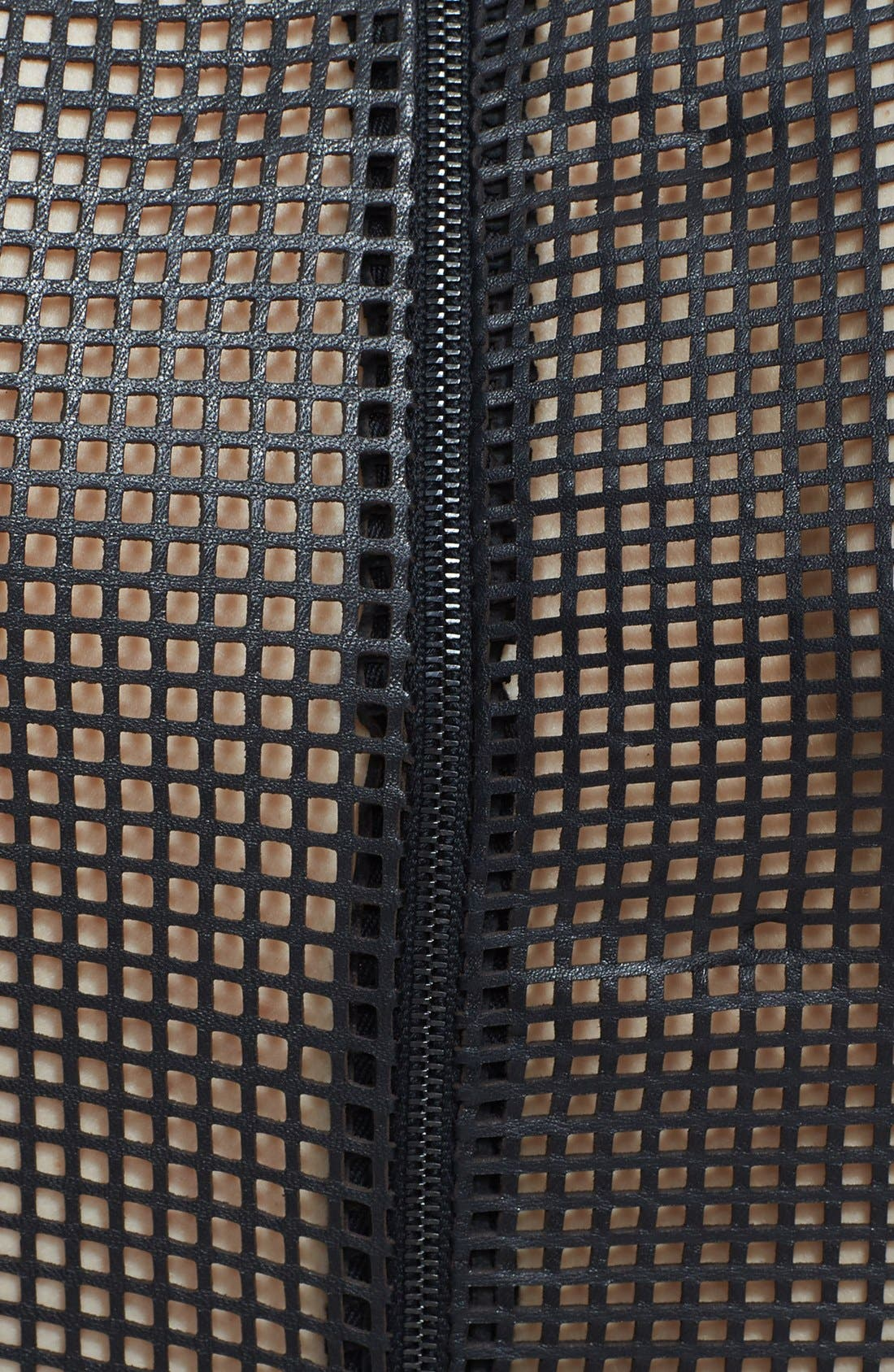 Alternate Image 2  - L'AGENCE Colorblock Leather Mesh Dress