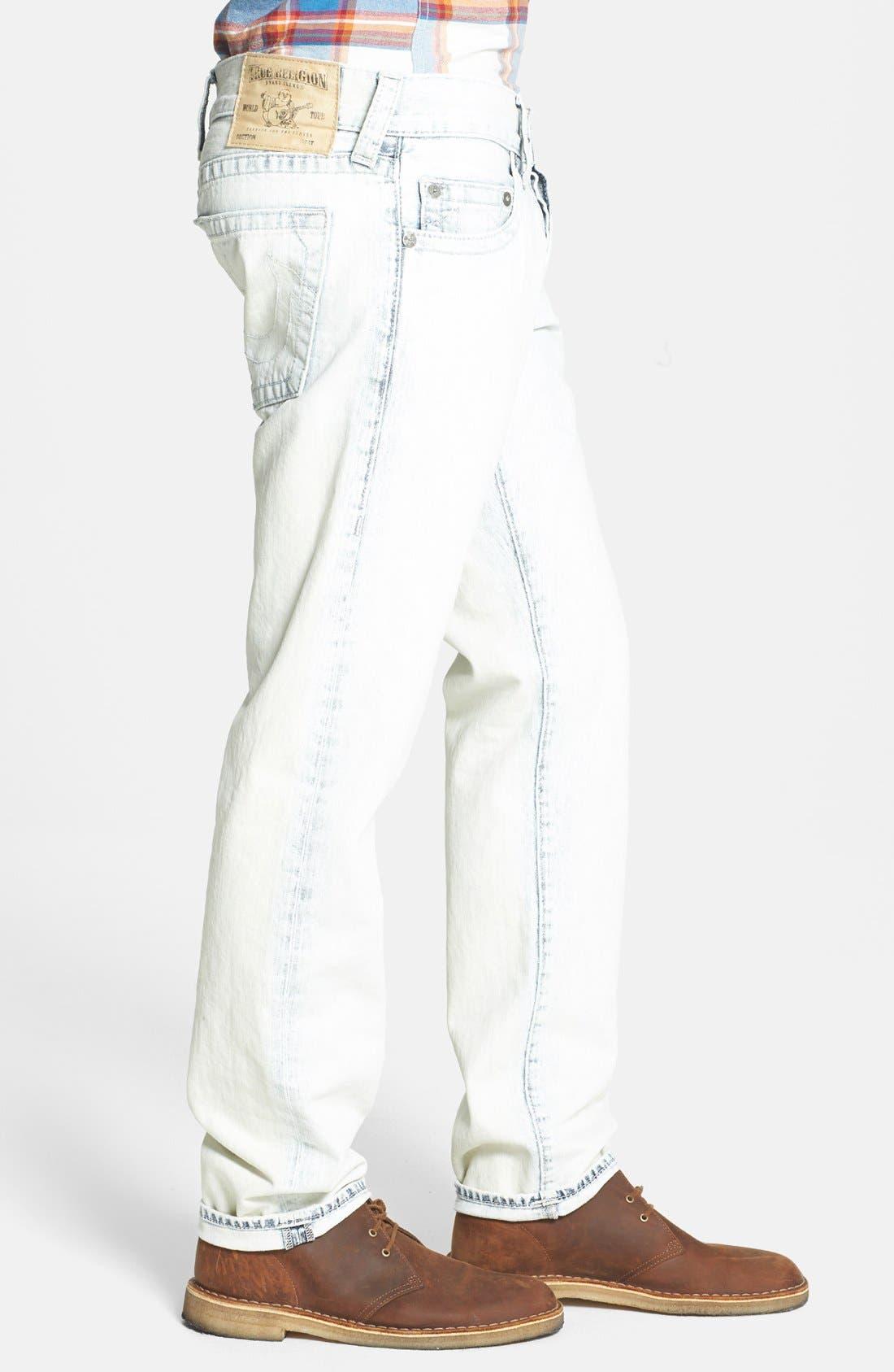 Alternate Image 3  - True Religion Brand Jeans 'Geno' Straight Leg Jeans (Azml White Keys)