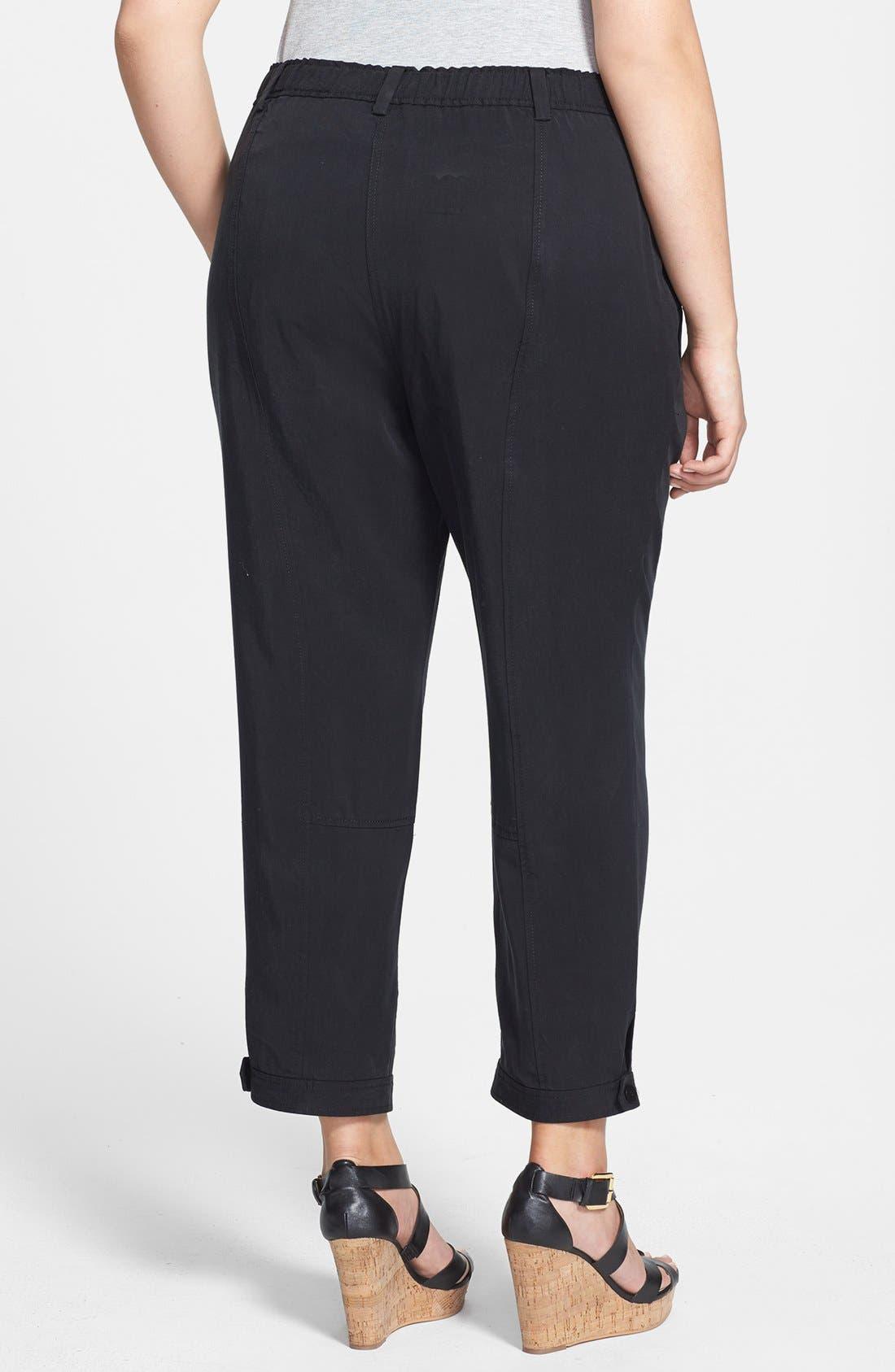 Alternate Image 2  - Eileen Fisher Tencel® Ankle Pants (Plus Size)