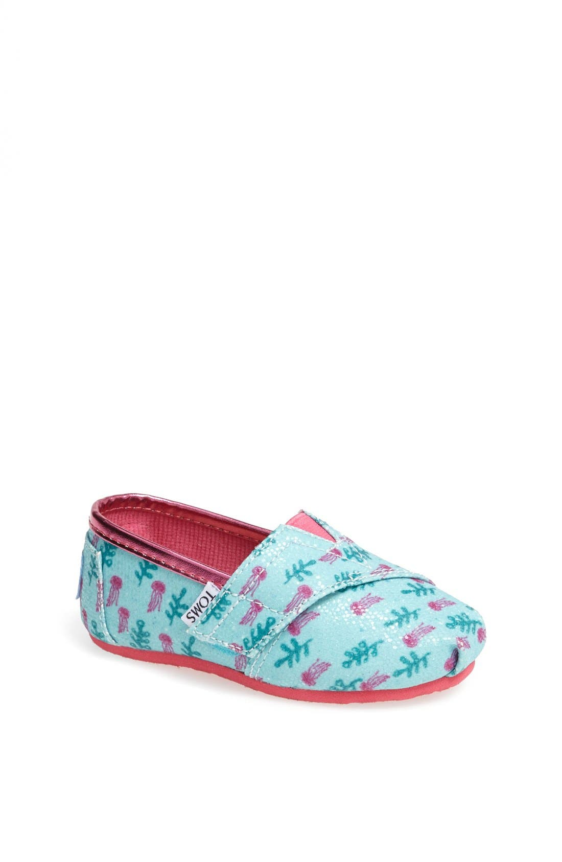 Alternate Image 1 Selected - TOMS 'Classic Tiny - Glitter Jellyfish' Slip-On (Baby, Walker & Toddler)