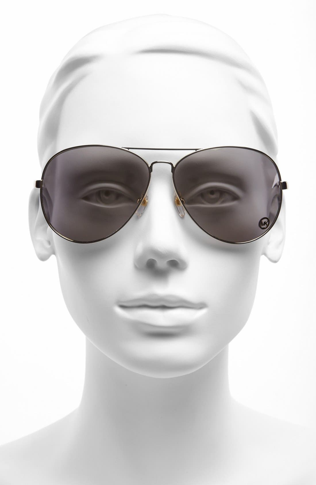 Alternate Image 2  - MICHAEL Michael Kors 'Lola' 63mm Aviator Sunglasses